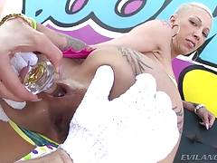 Inked Bella`s Big Ass Banged To Gaping